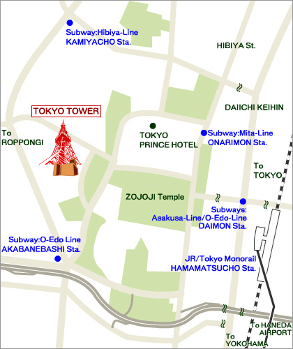 Tokyo Tower Map